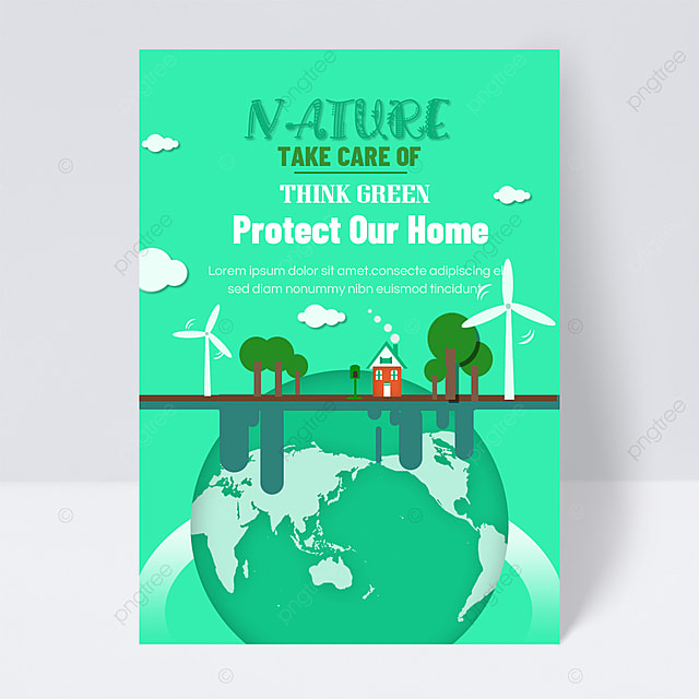 save energy and protect the earth public welfare flyer green energy home