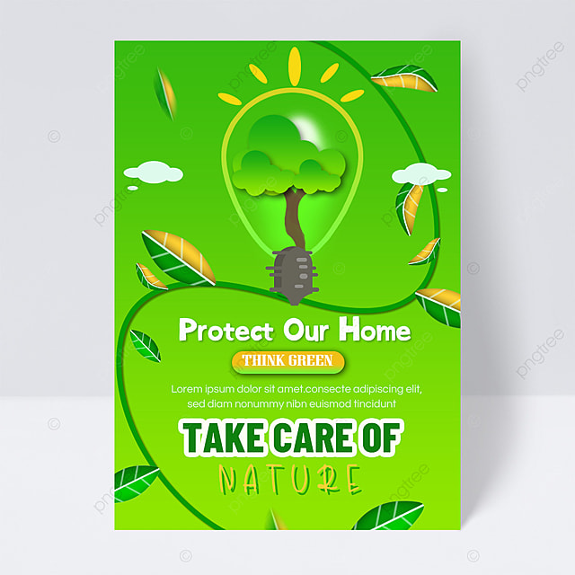 save energy and protect the earth public welfare flyer