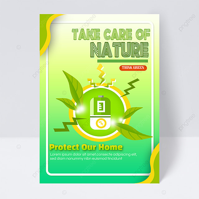 save energy protect the earth public welfare flyer energy saving green battery charging