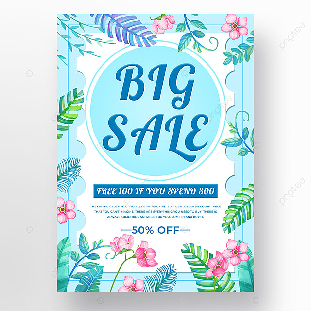 blue plant spring promotion template