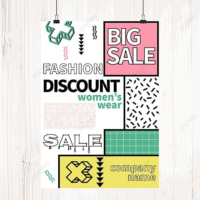 colorful memphis sale poster