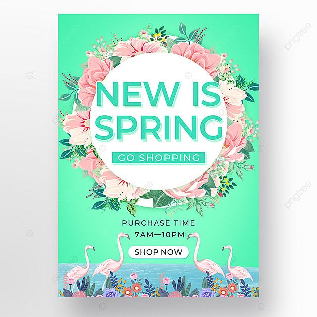 green spring promotion petal template