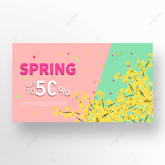 green spring spring promotion template