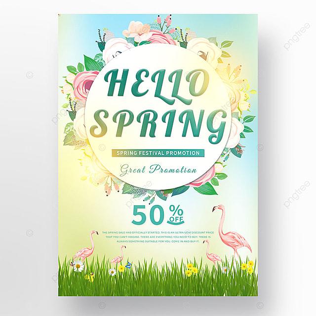 halo spring event flamingo template