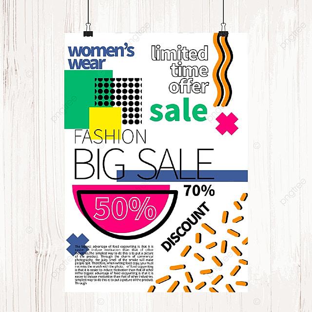 memphis color sale poster
