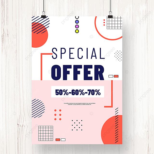 pink memphis creative geometric promotion poster