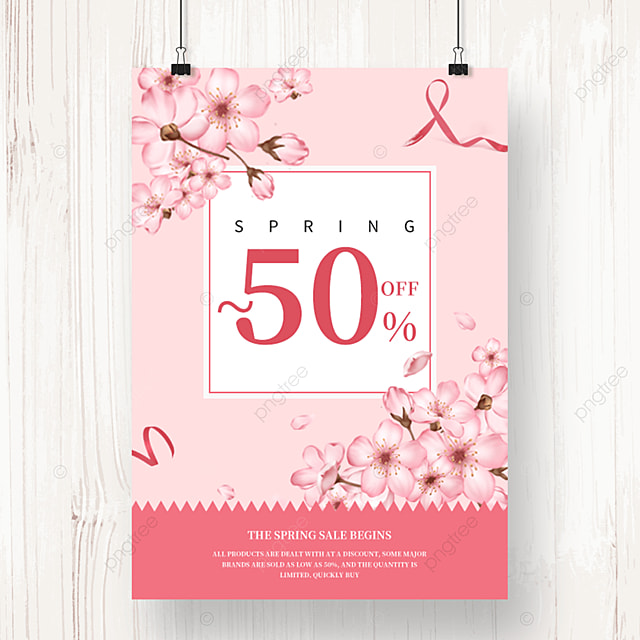 pink spring merchandise promotion template