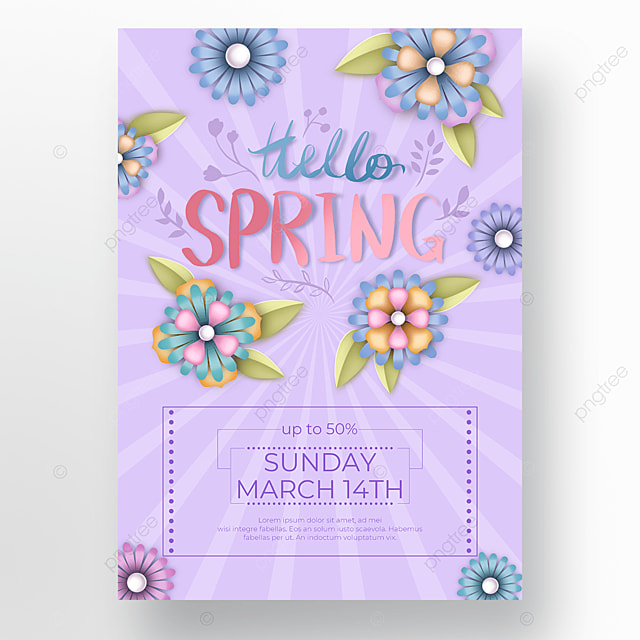 purple shading flower poster