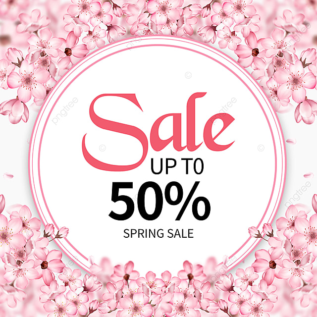 simple spring discount promotion template