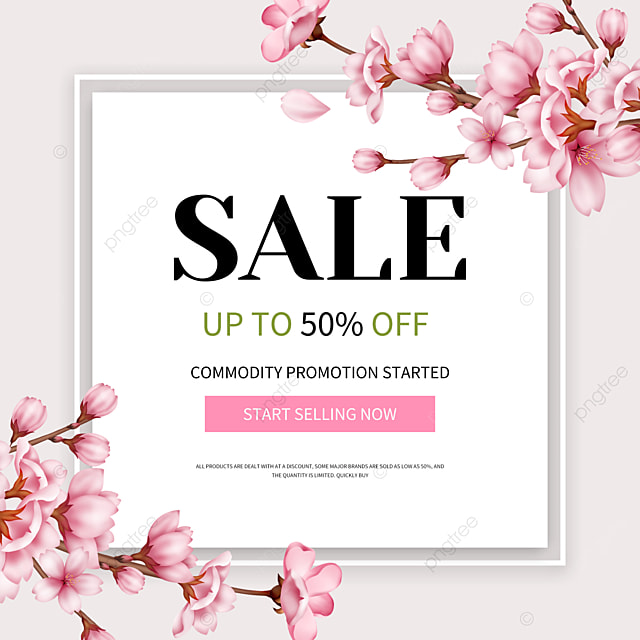 simple spring product promotion template