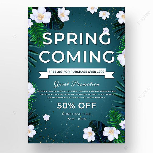 spring dark green promotion plant template
