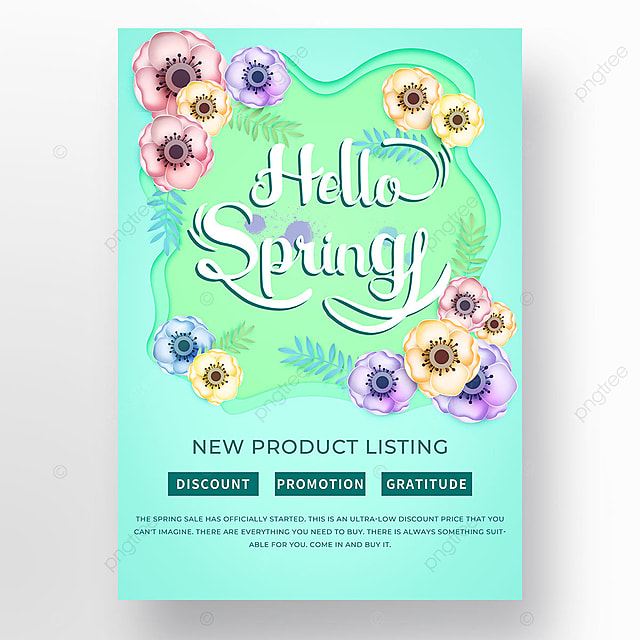 spring petal promotion template