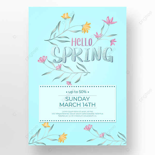spring poster discount plant