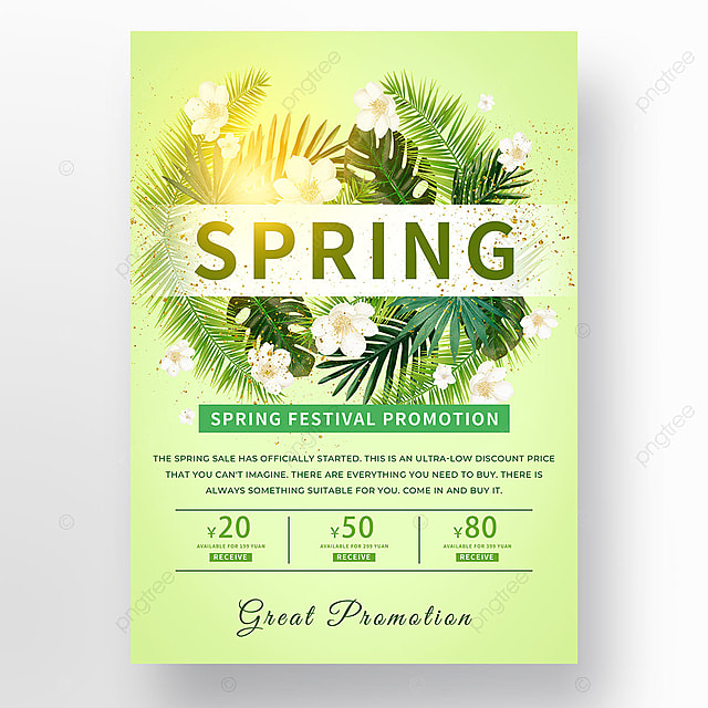 sunlight plant spring promotion template