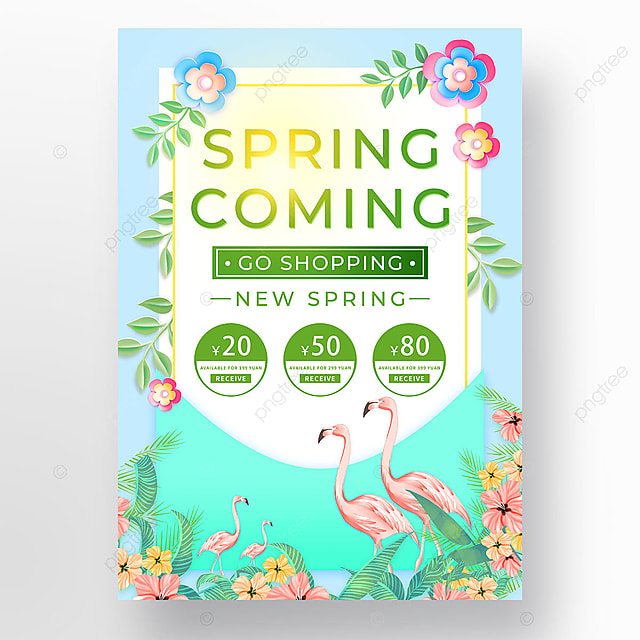 sunshine spring promotion coupon template