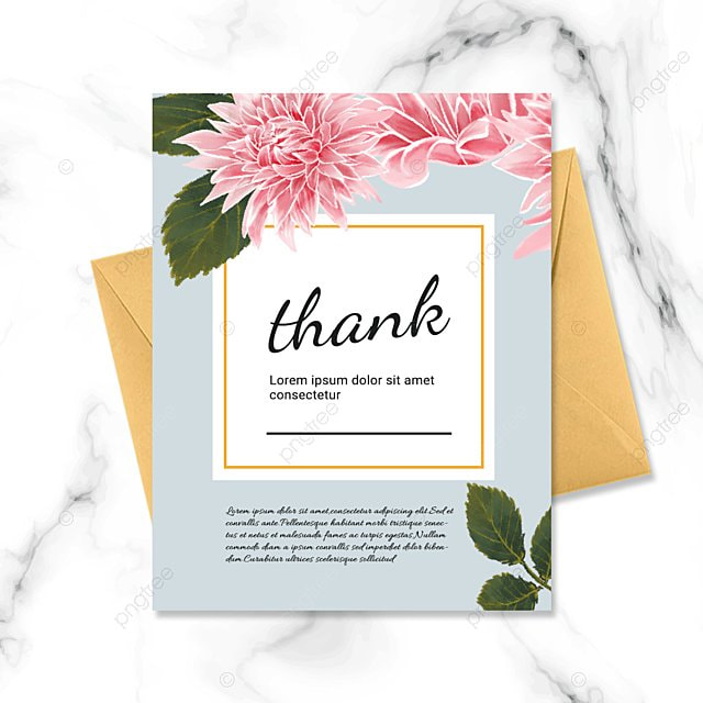 gray simple floral plant thank you greeting card