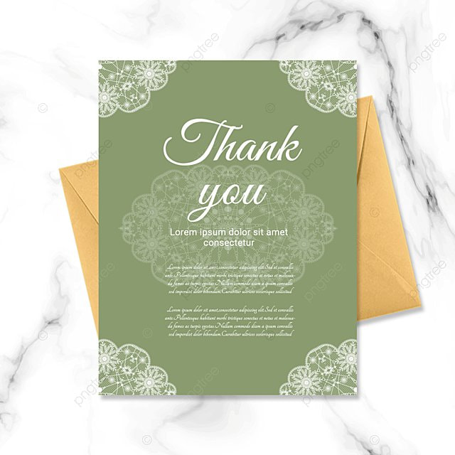 simple green plant thank you greeting card