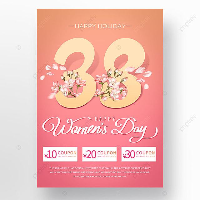 gradient light effect womens day template