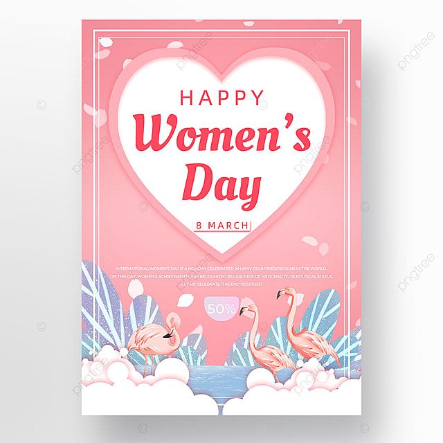 pink animal womens day template