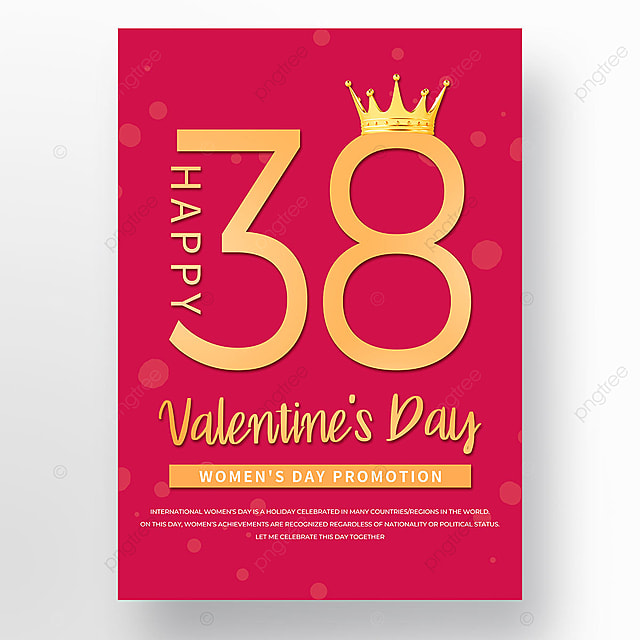 red gold halo womens day template