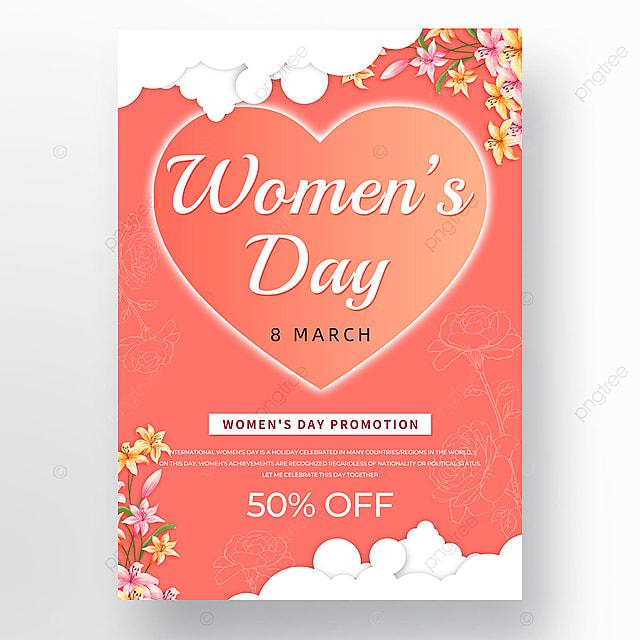 white auspicious cloud petals womens day template
