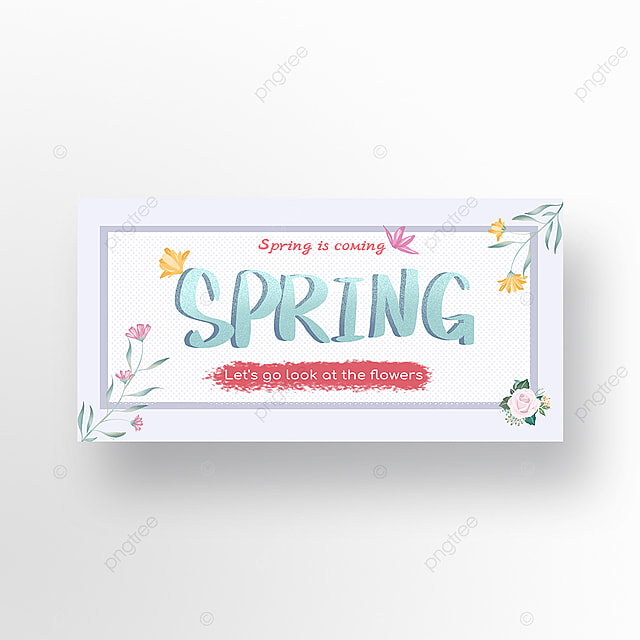 spring is coming flower viewing banner