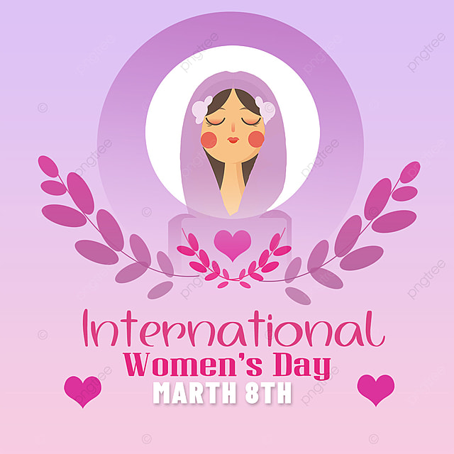 womens day template lavender women