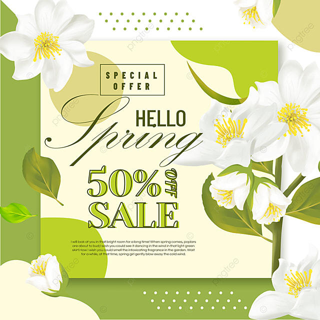 green spring discount poster