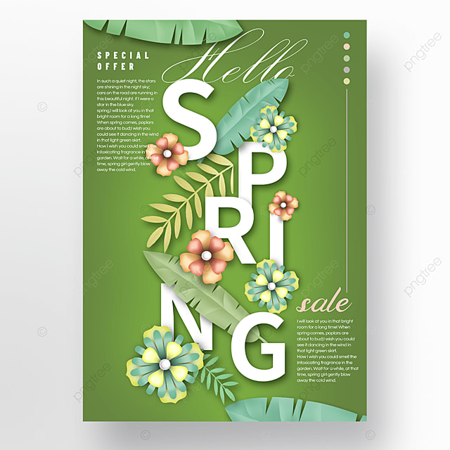 green spring promotion advertisement
