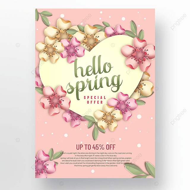 pink spring promotion poster