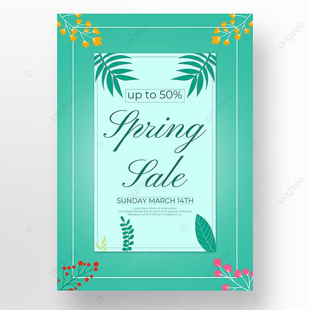 plant spring sale poster