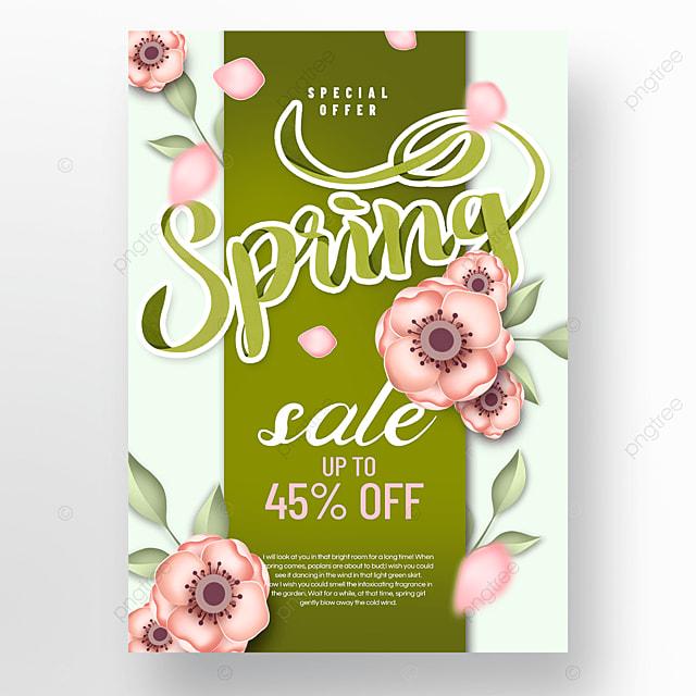 spring flower promotion advertisement