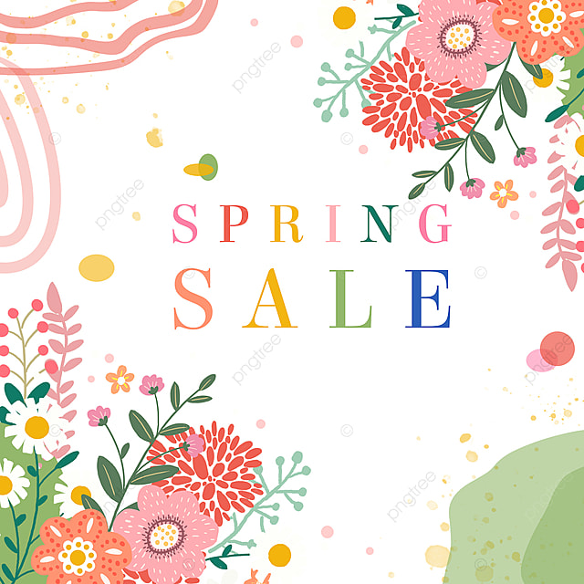 spring flowers elegant promotion template