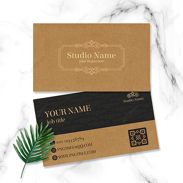 retro style business texture business card