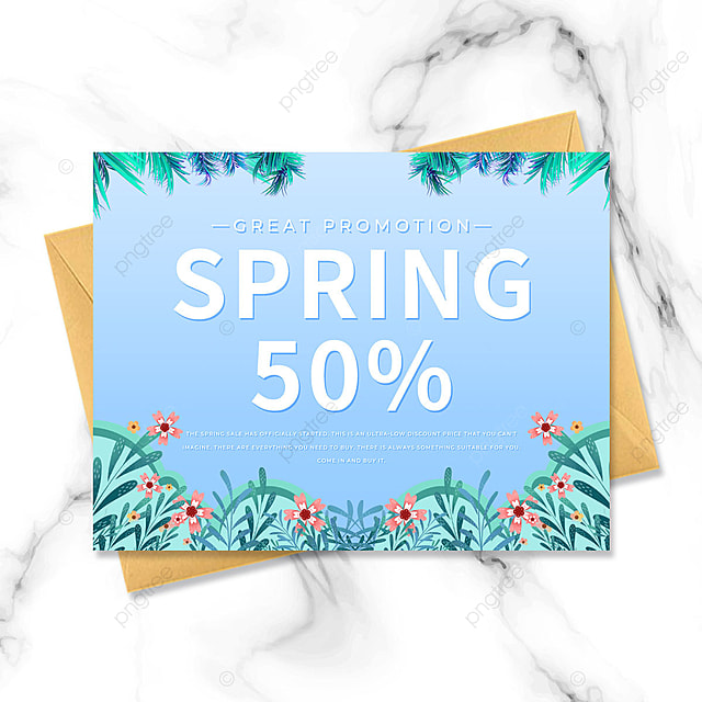 blue creative spring promotion petal template