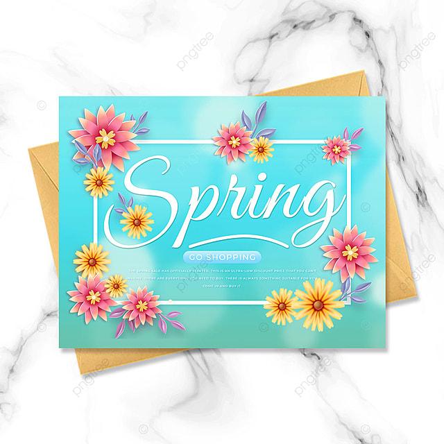blue spring promotion petal template