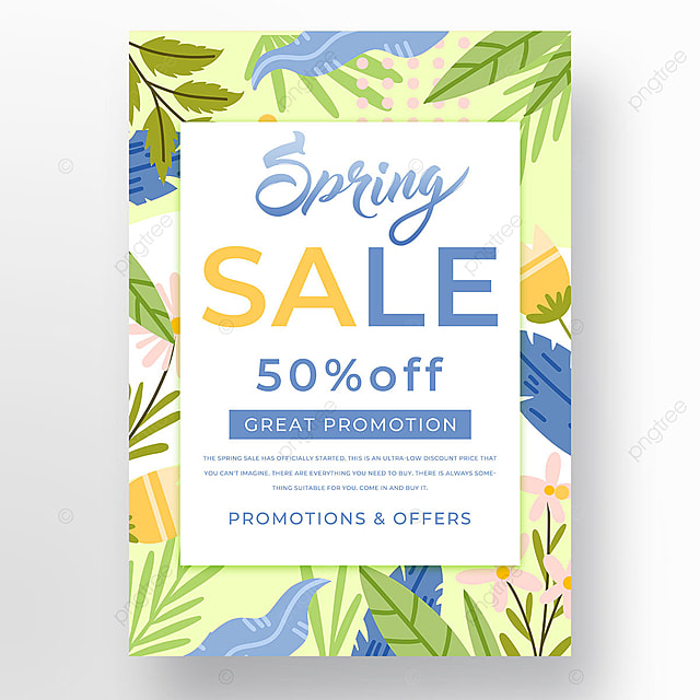 colorful plant spring promotion template