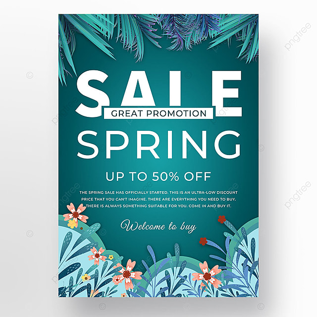dark green spring promotion flower bush template