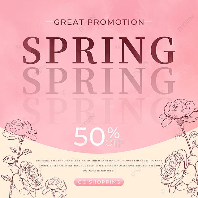 pink spring promotion petal template