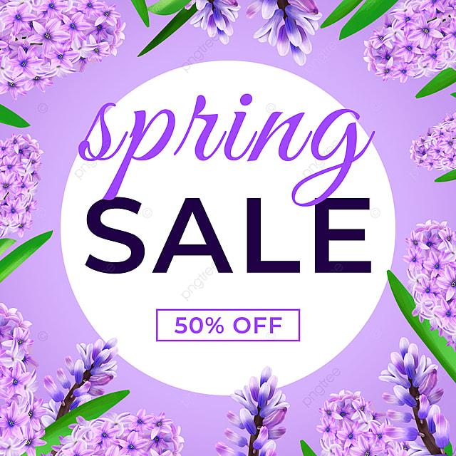 purple spring promotion petal template