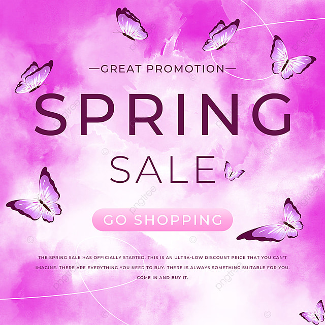 spring promotion butterfly template