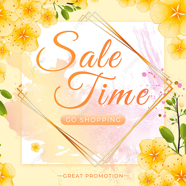 warm color spring promotion petal template