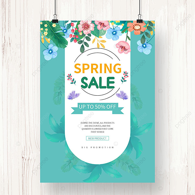 green spring promotion poster template