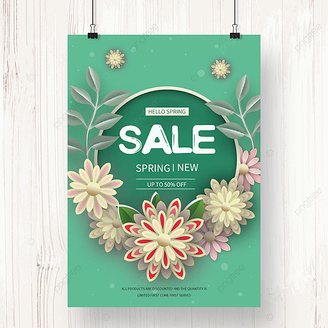 green spring promotion template