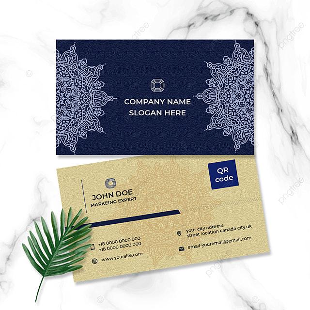 dark blue vintage style business card