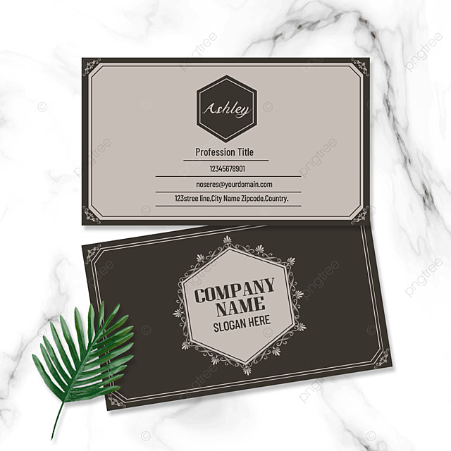 classic geometric vintage pattern double sided business card