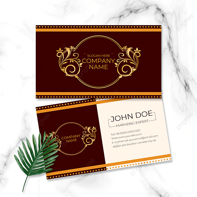 dark red background business card business