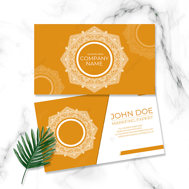 earth yellow background retro business card