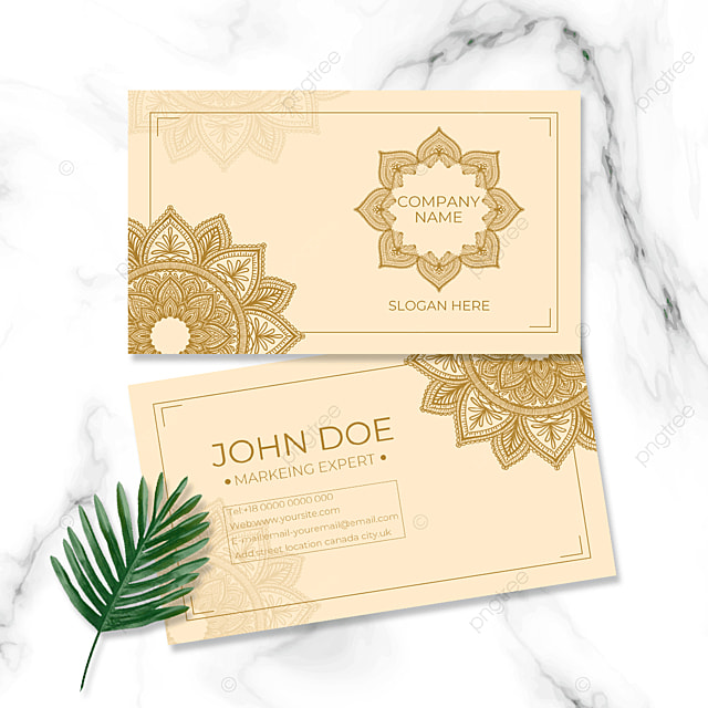 floral shading personal business card