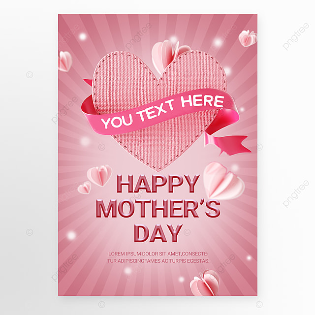 Download 3D Mother's Day Advertising Template templates from Pngtree.com and you can finish your design projects within minutes even if you have little design experience. All of the Unique 3D Mother's Day Advertising Template templates in this collection have commercial use license so you can use them without any copyright concerns.
